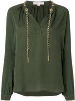 MICHAEL Michael Kors drawstring neck blouse