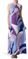 Pietro Brunelli 'Alassio' Graphic Maternity Maxi Dress