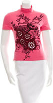 Dolce & Gabbana Embroidered Graphic Print Top