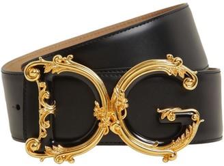 Dolce & Gabbana 50mm Barocco Smooth Leather Belt