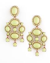 Oscar de la Renta Cabochon Drop Clip Earrings, Bright Green