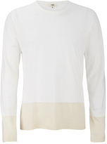 YMC Men's Block Long Sleeve TShirt - Cream