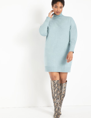 ELOQUII Mini Turtleneck Sweater Dress