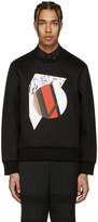 Neil Barrett Black Marble Modernist Pullover
