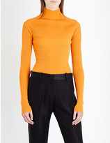 Victoria Beckham Turtleneck silk and cotton-blend jumper
