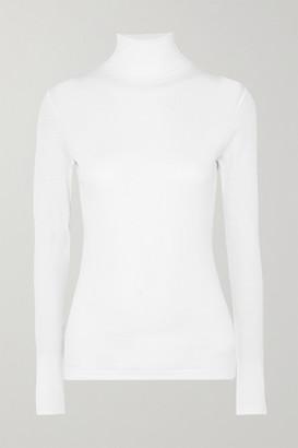 Ninety Percent Kaye Ribbed Organic Cotton-jersey Turtleneck Top - White
