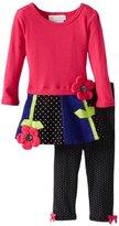 Bonnie Baby Baby-Girls Infant Flower Corduroy Legging Set