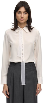 Stella McCartney Embroidered Sheer Satin Shirt