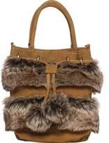 Australia Luxe Collective Women's Bushwick Bag - Tobacco Faux Fur/Suede Shoulder Bags