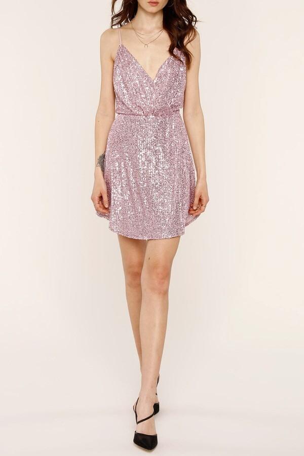 Heartloom Rue Sequin Wrap Mini Dress