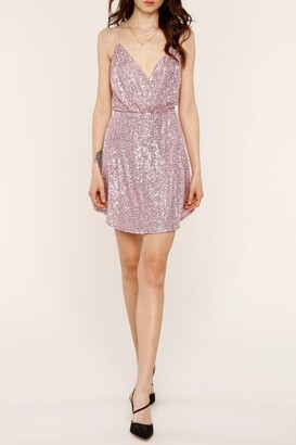 Heartloom Rue Sequin Wrap Mini Dress