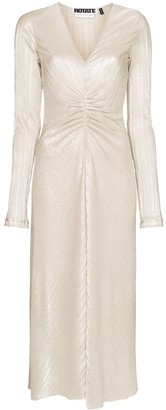 Rotate by Birger Christensen Number 7 ruched midi dress