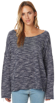 Rusty Bakery Womens Long Sleeve Top Blue