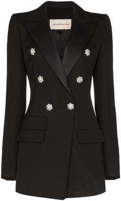 Alexandre Vauthier double-breasted crystal detail blazer
