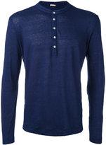 Massimo Alba buttoned sweatshirt - men - Linen/Flax - L