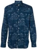Barba palm tree print shirt