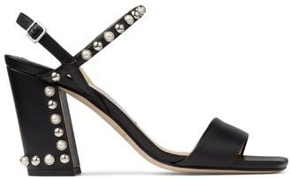 Jimmy Choo Aadra 85 Leather Sandals