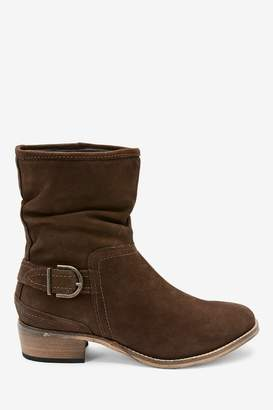 Next Womens Chocolate Forever Comfort Ankle Boots - Brown