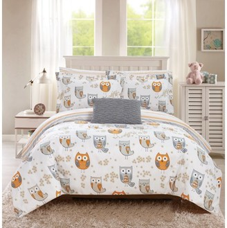Chic Home Horned 8 Piece Reversible Comforter Set It's A Hoot Owl Friends
