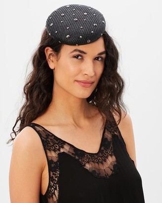 Max Alexander - Women's Black Fascinators - Pillbox With Metal Studs - Size One Size at The Iconic