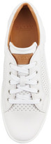 Bally Olien Perforated Leather Sneaker, White
