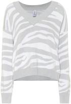 Varley Calvert zebra-striped sweater