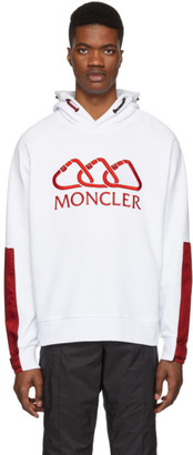 Moncler White All-Over Logo Hoodie