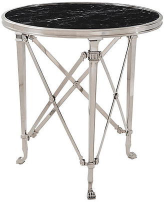 Ralph Lauren Home Cannes Gueridon End Table - Silver/Black