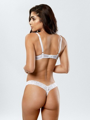 Ann Summers Sexy Lace Demi Thong - White
