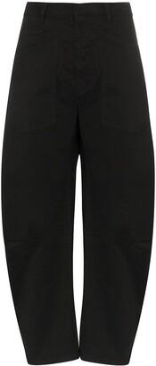 Nili Lotan Shon curved balloon-leg trousers