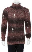 Mr & Mrs Italy Distressed Turtleneck Sweater w/ Tags