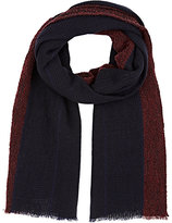 Barneys New York MEN'S STRIPED WOOL-BLEND SCARF