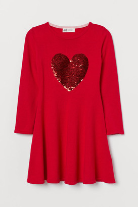 H&M Dress with Sequined Motif - Red