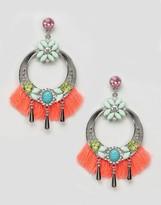 Asos Statement Tassel Jewel Chandelier Earrings