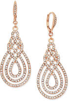 INC International Concepts I.n.c. Pave Open Saturn Drop Earrings, Created for Macy's