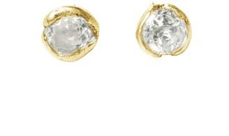 Lily Flo Jewellery Diamond Stud Earrings: 4Mm 0.26Ct Brilliant Cut Bezel Cup Set On Solid Gold