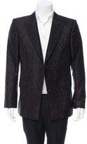 Alexander McQueen Silk Jacquard Tuxedo Jacket