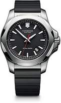 Victorinox Men's 241682.1 I.N.O.X. Watch with Black Dial and Black Rubber Strap
