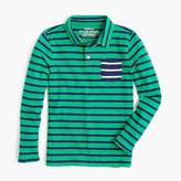 J.Crew Boys' long-sleeve mixed-stripe polo shirt