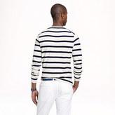 J.Crew Cotton beach sweater in navy stripe
