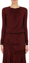 Nina Ricci Women's Pleated-Neck Sweater-BURGUNDY
