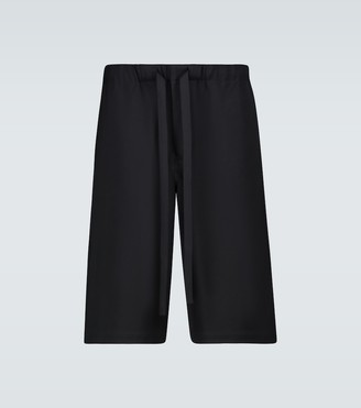 Loewe Wide-leg wool shorts