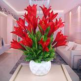 XHOPOS HOME-Fake flowers Artificial Flowers,Orchid,Ceramic Vases,Lily Red,Decorative FlowersBridal Accessories Arts Crafts Home Garden Decoration By XHOPOS HOME