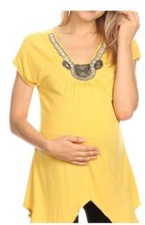 Myla White Mark Maternity Embellished Tunic