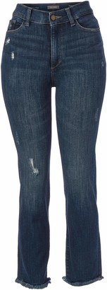 DL1961 Women's Mara Ankle High Rise Straight Fit Jeans