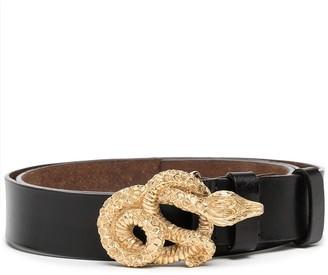 Valentino Garavani Pre Owned 1990s Snake Buckle Belt