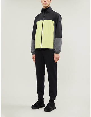Ermenegildo Zegna Funnel-neck colour-blocked shell jacket