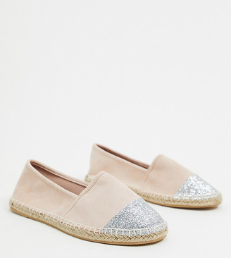 Simply Be wide fit espadrilles in pink