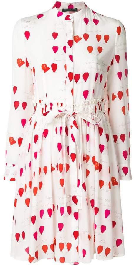 Alexander McQueen petal print tie waist dress