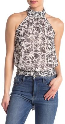 Rebecca Minkoff Zuki Paisley Sheer Tie Back Top